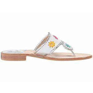 White Jack Rogers Medallion Sandals Sz 9